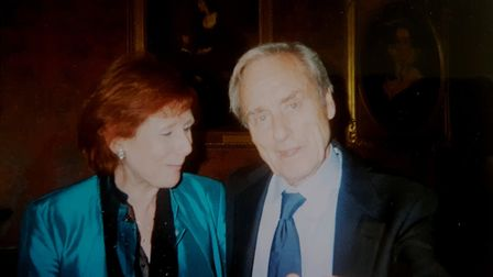 Sir Harold Evans with friend and ex-colleague Marjorie Wallace. Picture: Marjorie Wallace