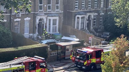 It took the fire brigade an hour to bring the blaze in the basement of the school building under con