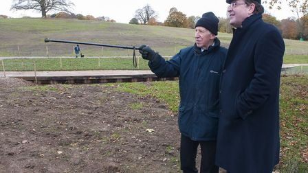 Celebration of the end of Heath Dams project Former Heath chairman Michael Welbank pictured with Ma