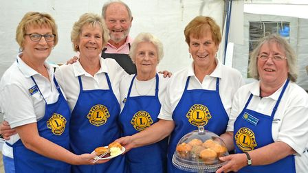 The Lions team manning the refreshment tent. Picture: Mick Howes