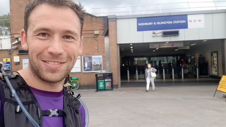 Stephen Moules is running between every London Underground station. Picture: Stephen Moules