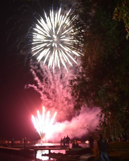 Fireworks at the Oulton Broad Gala Day. Picture: Mick Howes