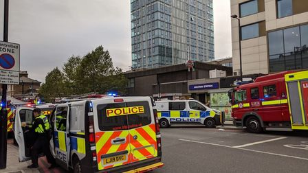 Emergency services outside Archway Tube. Picture: Michael Boniface