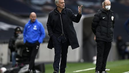 Tottenham Hotspur manager Jose Mourinho on the touchline during the Premier League match at Tottenha