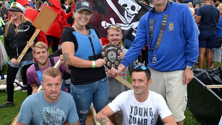 The winners of the Maiden in Distress boat race, Blunderboat. Picture: Mick Howes