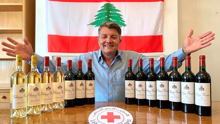 Mike Clark supported the Red Cross Beirut Emergency Appeal with a socially distanced Oenophile�s Jou