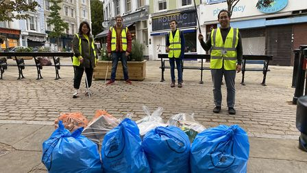 The event was part of the Great British September Clean by Keep Britain Tidy. Picture: Belsize Villa