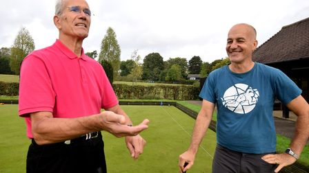 Hugh Jones and Sandy Nairne at Hampstead Heath Croquet Club's final session of the season. The club