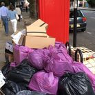 """Camden Council and Veiolia's refuse """"infrastructure"""", Rosslyn Hill. Picture: S Wocker"""