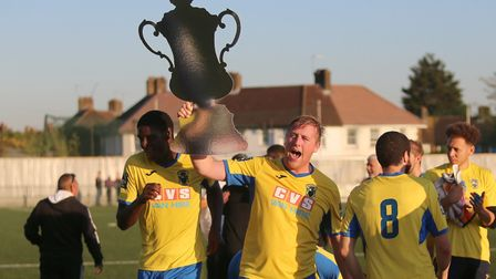 Haringey Borough beat Poole Town to reach the FA Cup first round (pic: George Phillipou/TGS Photo)