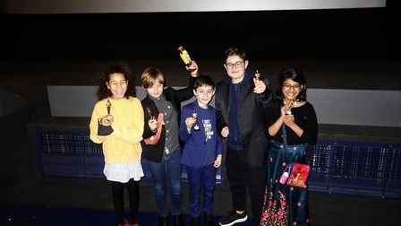 Pupils from Fitzjohn's Primary School at the premiere in Covent Garden. Picture: Fitzjohn's Primary