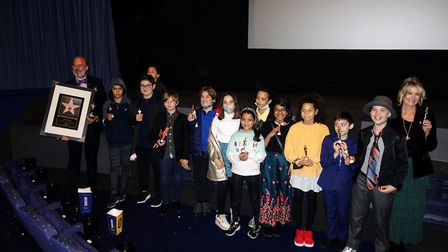 The students watched the films which they starred in themselves. Picture: Fitzjohn's Primary School