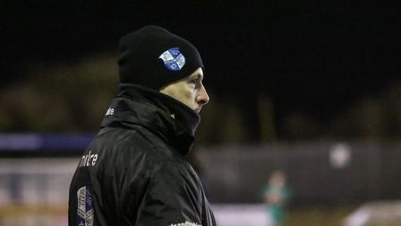 Wingate & Finchley manager Spencer Knight (Pic: Martin Addison)