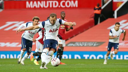 Tottenham Hotspur's Harry Kane scores his side's sixth goal of the game from the penalty spot