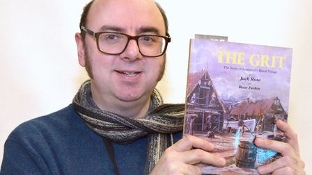 Dean Parkin with the book that he co-wrote in 1997, 'The Grit' which will be re-issued next spring.