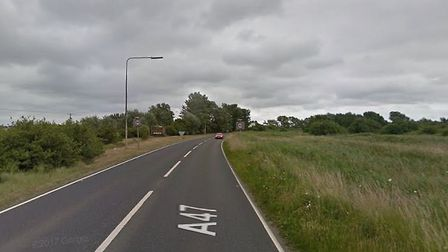 Delays are being caused on the A47 near Great Yarmouth by a broken down vehicle. PHOTO: Google Maps