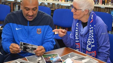 The Sporting Memories group launched at Lowestoft Library earlier this year. Old photos are discusse