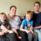 Chris and Karen Stride from Lowestoft with their son Joseph,9, who has special educational needs and