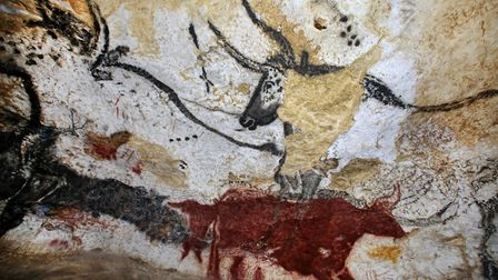 Prehistoric Roots: Reproduction of cave-paintings disovered at the International Center of Parietal