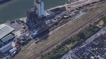 The railway sidings in Lowestoft which are up for sale. Picture: Google Earth