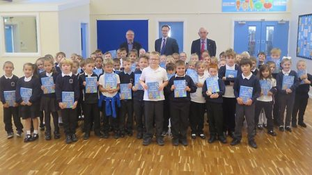Waveney MP Peter Aldous attends one of the first presentations alongside Rotarians and pupils at Rom
