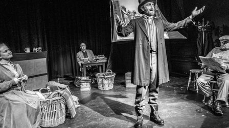 A touring show about Lowestoft's fishing village known as The Grit. The ensemble. Picture: Peter Eve