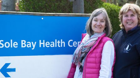 Admiral Nurse Mindy Mortimer and community matron Cathy Ryan at the Sole Bay Health Centre. Picture: