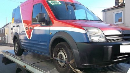 A van was seized by police in Lowestoft after the driver was to be disqualified and hold no insuranc