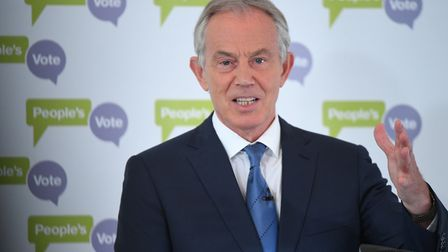 Tony Blair is continuing to push for a People's Vote. Photograph: Stefan Rousseau/PA Wire