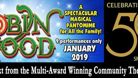 From 19th -27th January 2019 The Lowestoft Players spectacular family Pantomime Robin Hood and the B