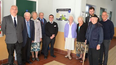 The special information panel is unveiled at Lowestoft Station. Pictures: Mick Howes