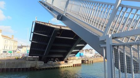 The Bascule Bridge was shut last night - but no-one knows why. Picture: Highways England