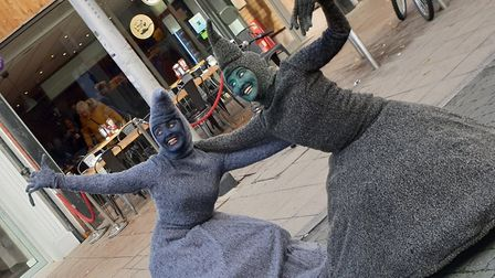 Fun at the Lowestoft Vision's Spooky Saturday event with the Wheezers