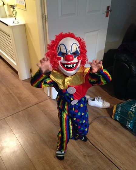 Archie in his scary Halloween costume. Photo: Kirsty Scrivens