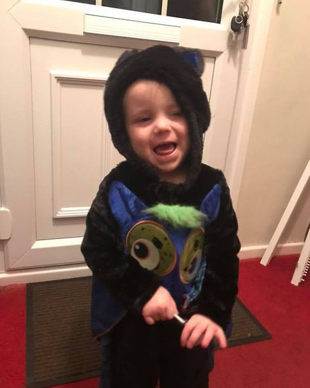Eligh in his Halloween outfit. Photo: Lindsey Davis