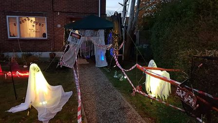 Keilly's house decorated for Halloween. Photo: Keilly Toynton
