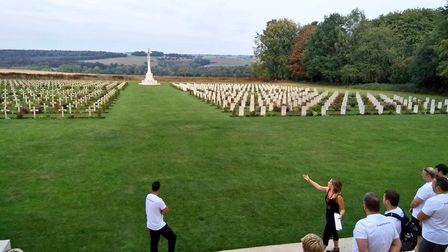 Lowestoft student Olivia Smith is working at the Thiepval Memorial in France. Picture: Courtesy of O