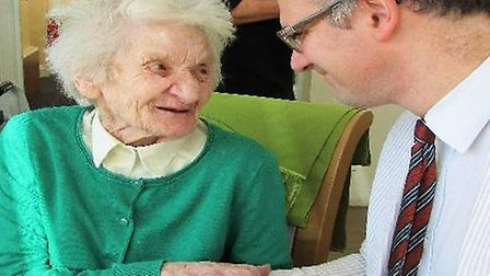 Pamela, a long standing resident at The Dell won Charles Hanson over with her own stories of days go