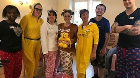 Staff at Oulton Park Care Centre in Lowestoft went to work in their pyjamas. The Barchester Healthcare home in Oulton is...