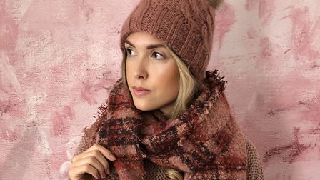 Hat and scarf from Match Clothing. NIKI LOW