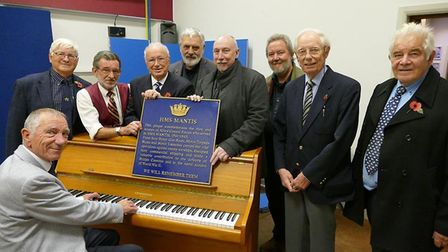 A special unveiling event with the restored HMS Mantis plaque at the Bethel at War event. Pictures: