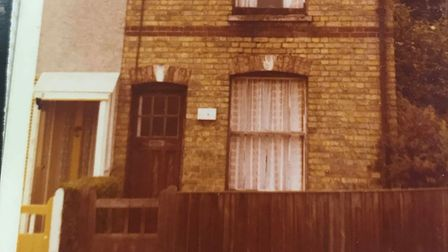 Stanley Eric Smith was grew up in this house in Oulton Broad, this picture was taken when he visited