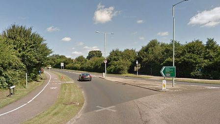 Police are at the scene of a crash on the roundabout where Millennium Way meets Peto Way in Lowestof