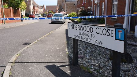 Police cordon off roads around Bentley Drive and Underwood Close in Lowestoft whilst investigations take place following a...