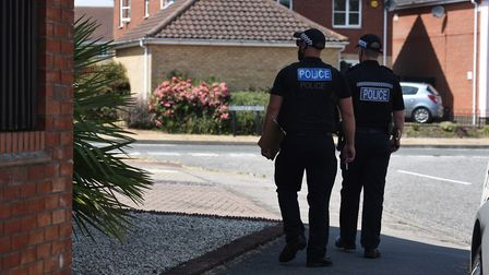 Police cordon off roads around Bentley Drive and Underwood Close in Lowestoft whilst investigations