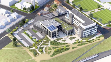 An aerial view of the proposed design for Cefas' new £16m Lowestoft base. Image courtesy of Cefas.