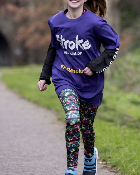 Lily Dewbery is set to to run the 5K Resolution Run in aid of the Stroke Association. Picture: Nick
