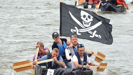 Action from the Maiden in Distress boat race. Picture: Mick Howes