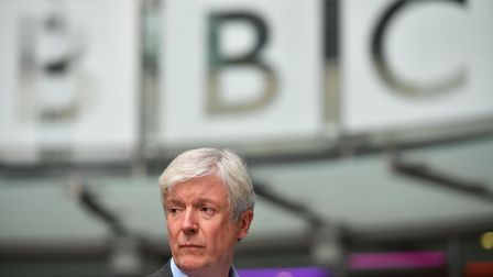 Director-General of the BBC Tony Hall seen outside the BBC's Broadcasting House in London. Picture: