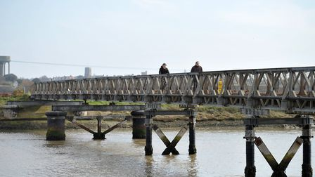 Bailey Bridge near Southwold Harbour. Picture: SARAH LUCY BROWN